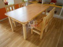 JÚNÓ óvodai fenyő asztal