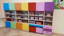 Mirabo színes ajtós óvodai szekrény