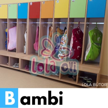 Bambi óvodai öltöző - Lola Bútor