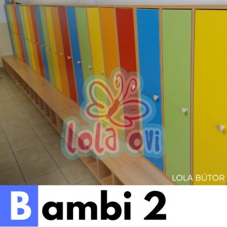 Bambi 2 óvodai öltöző - Lola Bútor