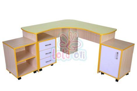 Suli tanári asztal garnitúra