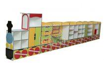 Vonatos szekrénysor (7 elemes)