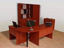 Negyedkör tárgyalóív kiegészítő asztal