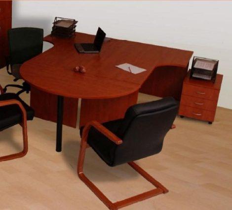 Félkör tárgyalóív kiegészítő asztal