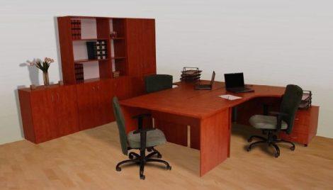 Íves íróasztal (jobbos)