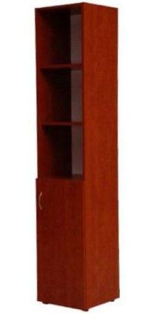 Alul ajtós felül nyitott polcos irodai szekrény