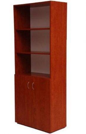 2 ajtós alul zárt, felül nyitott polcos irattartó szekrény