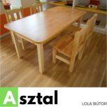 Óvodai asztal és szék